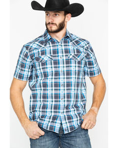 d2fb3b1d Cody James Men's Bushwacker 2.0 Med Plaid Short Sleeve Western Shirt