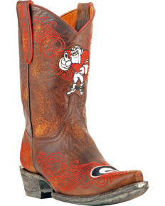 Gameday Women's University of Georgia Cowgirl Boots - Snip Toe, Brass, hi-res