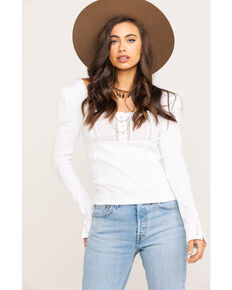Free People Women's Sugar Sugar Top, White, hi-res