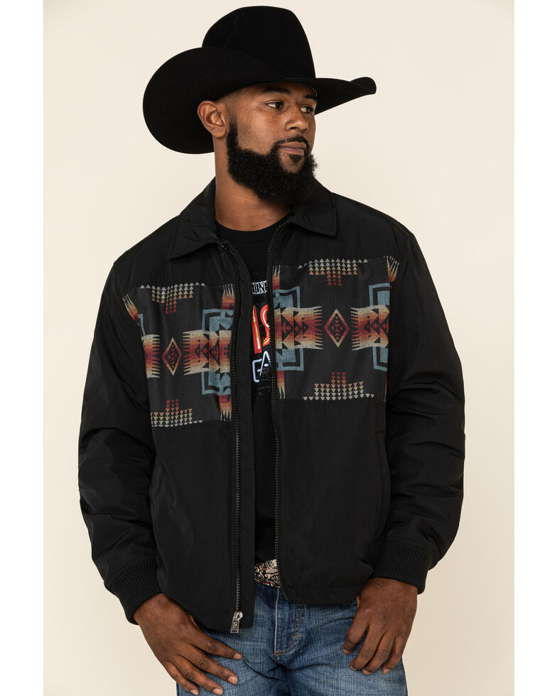 Pendleton Men's Black Buffalo Gap Jacquard Print Insulated Jacket , Black, hi-res