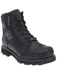 Harley Davidson Men's Bonham Moto Boots - Round Toe, Black, hi-res
