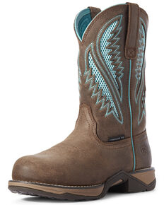 Ariat Women's Anthem VentTEK Western Work Boots - Composite Toe, Brown, hi-res