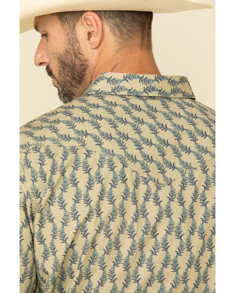 Moonshine Spirit Men's Montage Floral Geo Print Short Sleeve Western Shirt , Blue, hi-res