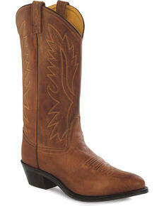 Old West Men's Polanil Western Boots, Tan, hi-res