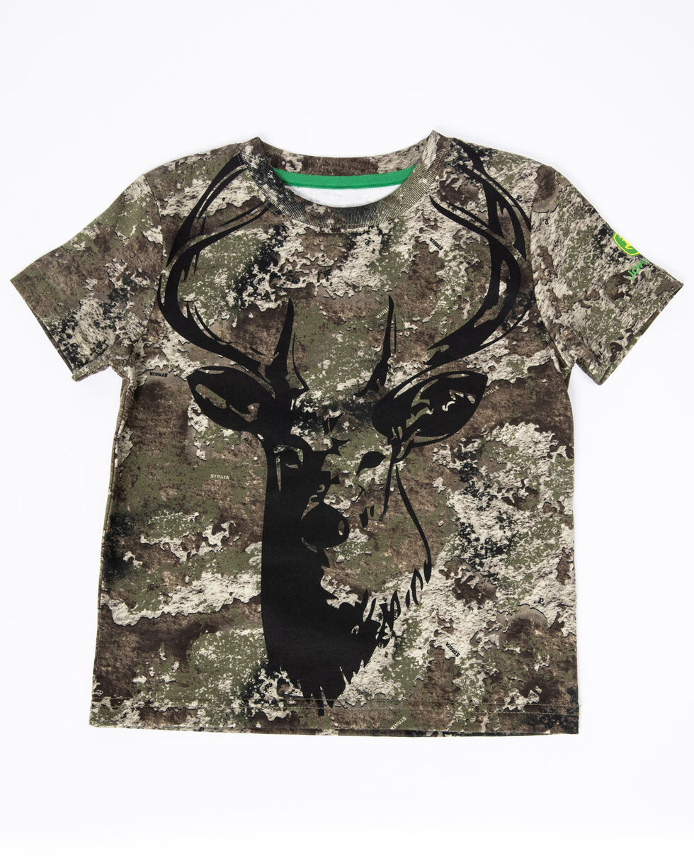 John Deere Toddler Boys' Camo Deer Graphic T-Shirt , Camouflage, hi-res
