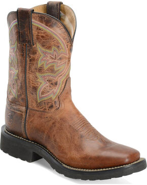 "Double H Women's 9"" Super-Lite Western Boots, Brown, hi-res"