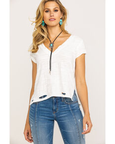 Free People Women's We The Free Sundance Tee, Ivory, hi-res