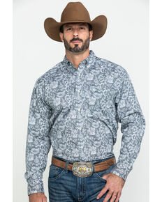 Ariat Men's Fayette Stretch Floral Print Long Sleeve Western Shirt , Multi, hi-res