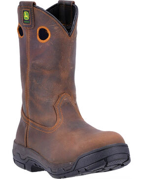 John Deere Men's WCT Removable Insert Work Boots - Aluminum Alloy Toe , Brown, hi-res