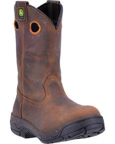 John Deere Men's WCT Removable Insert Work Boots - Alloy Toe , Brown, hi-res