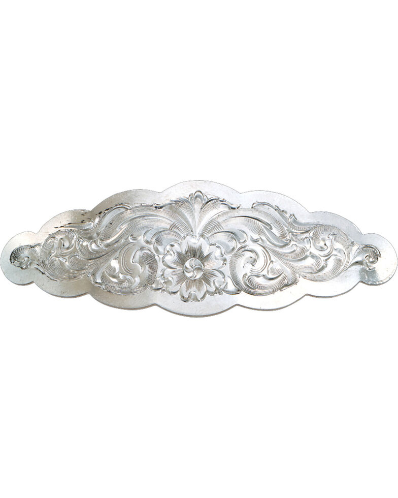 Montana Silversmiths Small Scalloped Montana Silver Barrette, Silver, hi-res