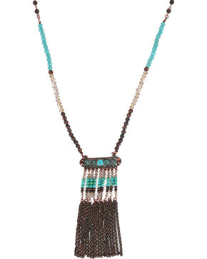 Shyanne® Women's Multi Beaded Necklace, Turquoise, hi-res