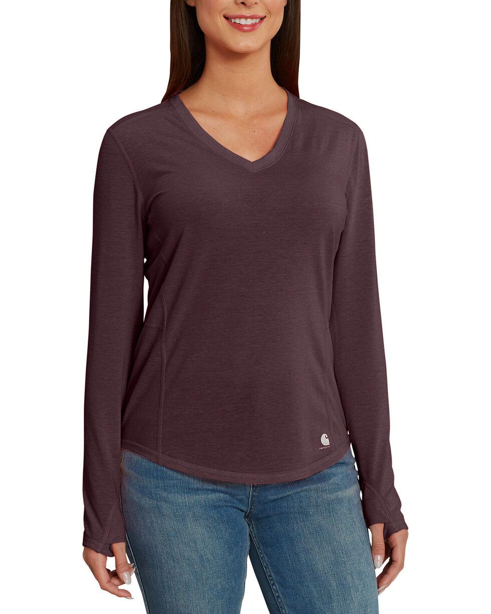 Carhartt Women's Force Ferndale Long Sleeve T-Shirt , Medium Brown, hi-res