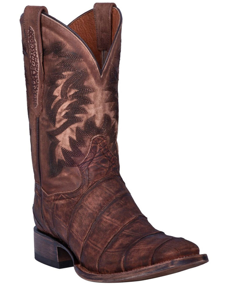 Dan Post Men's Albert Western Boots - Square Toe, Brown, hi-res