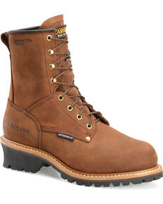 "Carolina Men's Steel Toe 8"" Work Boots, Brown, hi-res"