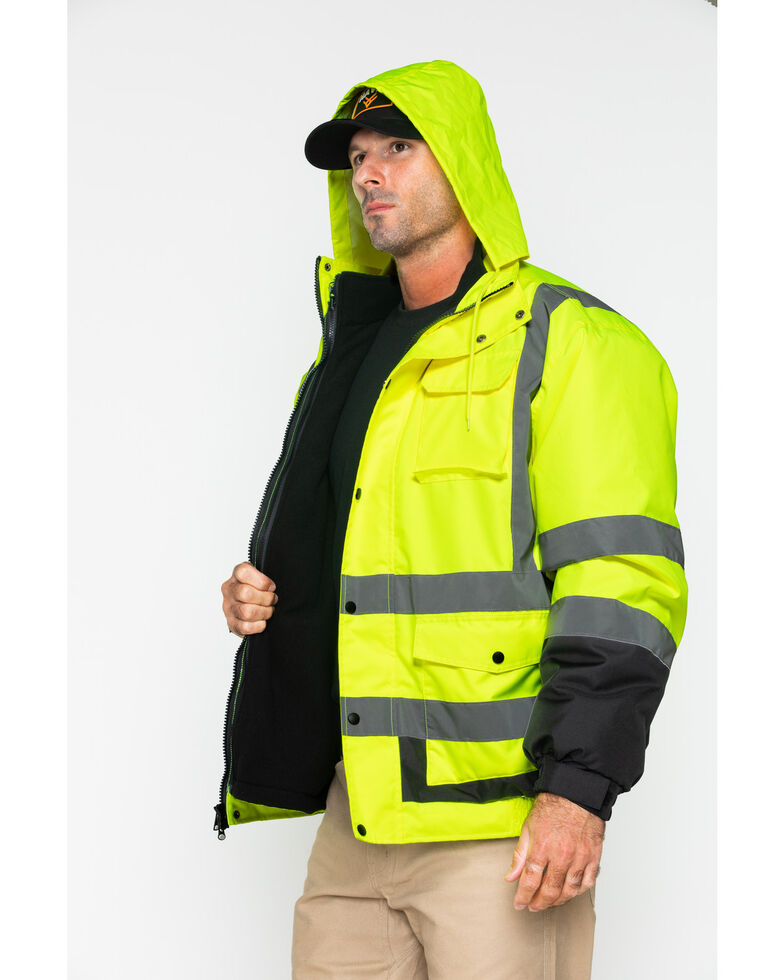 Hawx Men's Visibility Bomber Work Jacket , Yellow, hi-res