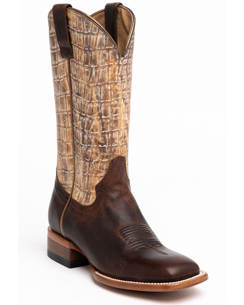 Shyanne Women's Wilder Western Boots - Wide Square Toe, Tan, hi-res
