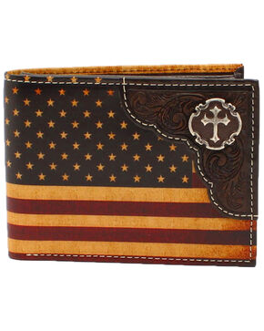 Cody James Men's Vintage Americana Bifold Wallet, Multi, hi-res