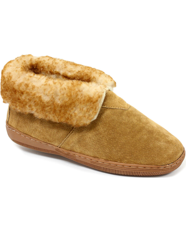 Lamo Footwear Men's Suede Slippers, Chestnut, hi-res