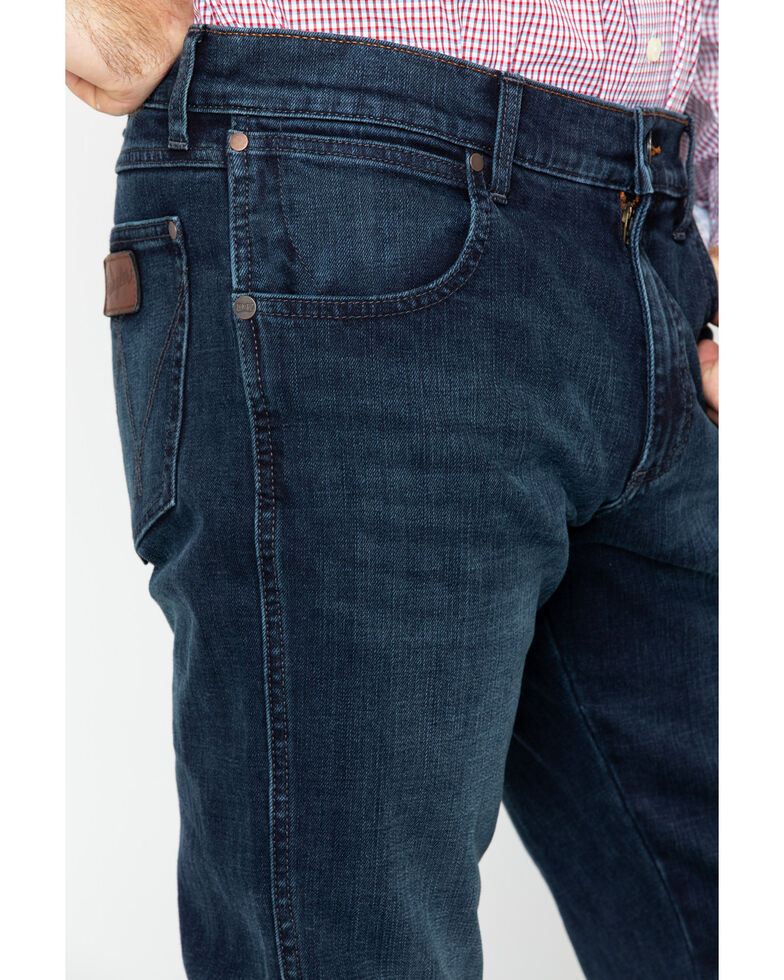 Wrangler Retro Men's Blue Relaxed Fit Stretch Jeans - Boot Cut, Blue, hi-res