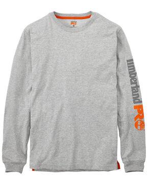 Timberland Pro Men's B&T Base Plate Blended Long Sleeve Work T-Shirt - Big , Heather Grey, hi-res