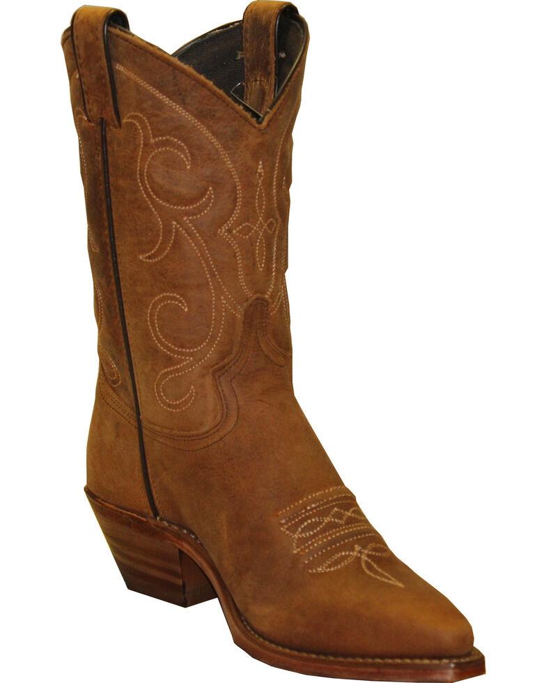 "Abilene Women's 9"" Soft Textured Western Boots, Tan, hi-res"