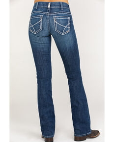 Ariat Women's Navajo Baseball Bootcut Jeans, Blue, hi-res