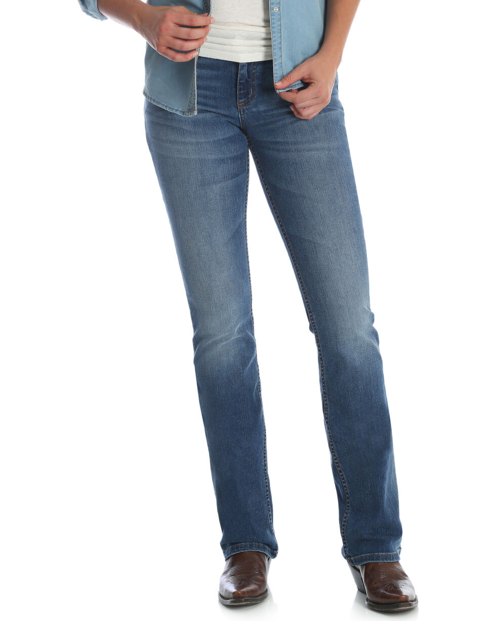 Wrangler Women's Medium Wash Retro Mae Jeans, , hi-res
