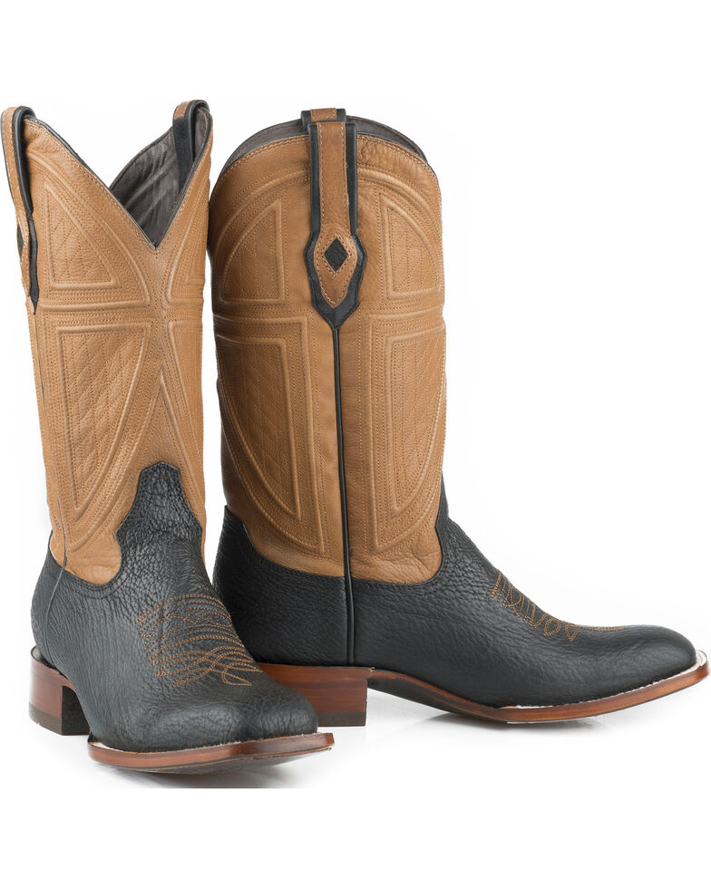 Stetson Men's Billings Shark Exotic Boots, Black, hi-res