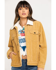 Show Me Your Mumu Women's Mustard Dijon Durado Corduroy Jacket, Yellow, hi-res