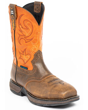 Cody James Men's Nano Lite Western Boots - Composite Toe, Orange, hi-res