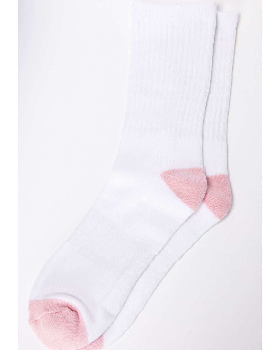 Shyanne® Women's Crew Sock 3 Pack, White, hi-res