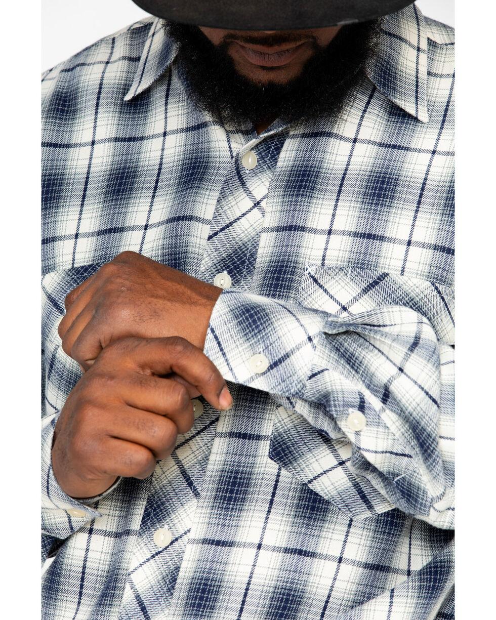 Resistol Men's Launcher Ombre Plaid Long Sleeve Western Flannel Shirt , Blue, hi-res