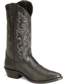 "Justin Men's 13"" London Calf Western Boots, Black, hi-res"
