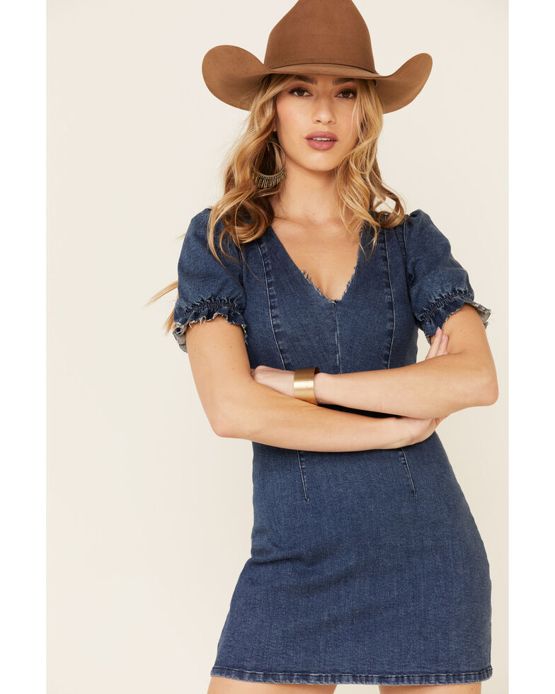 Show Me Your Mumu Women's Denim Zoey Dress, Blue, hi-res