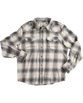 Cody James Men's Grey Kodiak Plaid Long Sleeve Shirt, Grey, hi-res