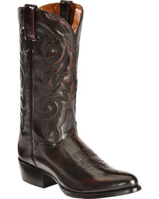 Dan Post Men's Mignon Leather Cowboy Boots - Medium Toe, Black Cherry, hi-res