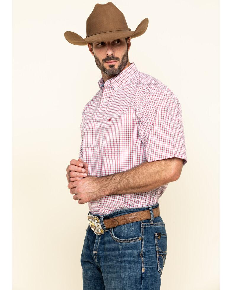 Ariat Men's Norland Multi Plaid Short Sleeve Western Shirt , Multi, hi-res