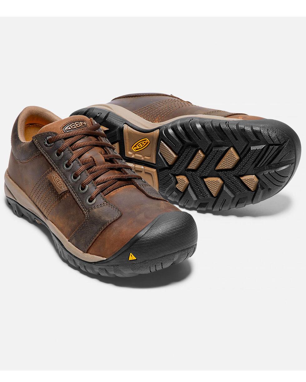 Keen Men's La Conner ESD Work Shoes - Aluminum Toe, Brown, hi-res