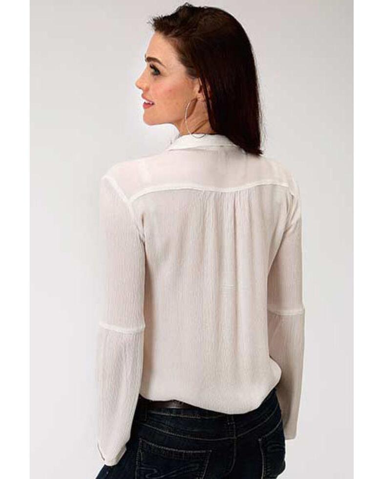 Studio West Women's Embroidered Bell Sleeve Top, , hi-res