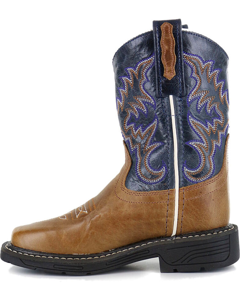 Cody James Boys' Embroidered Western Boots - Square Toe, Tan, hi-res