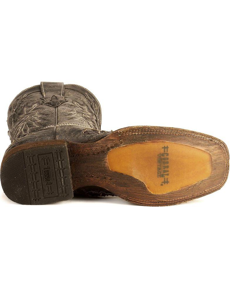 Corral Python Inlay Western Boots, Black, hi-res