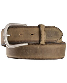 Justin Men's Bay Apache Leather Dress Belt, Bay Apache, hi-res