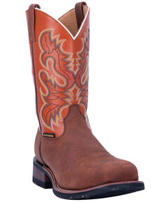 Laredo Men's Edwards Western Work Boots - Steel Toe, Brown, hi-res