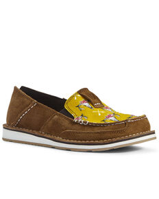 Ariat Women's Steerhead Cruiser Shoes - Moc Toe, Mustard, hi-res