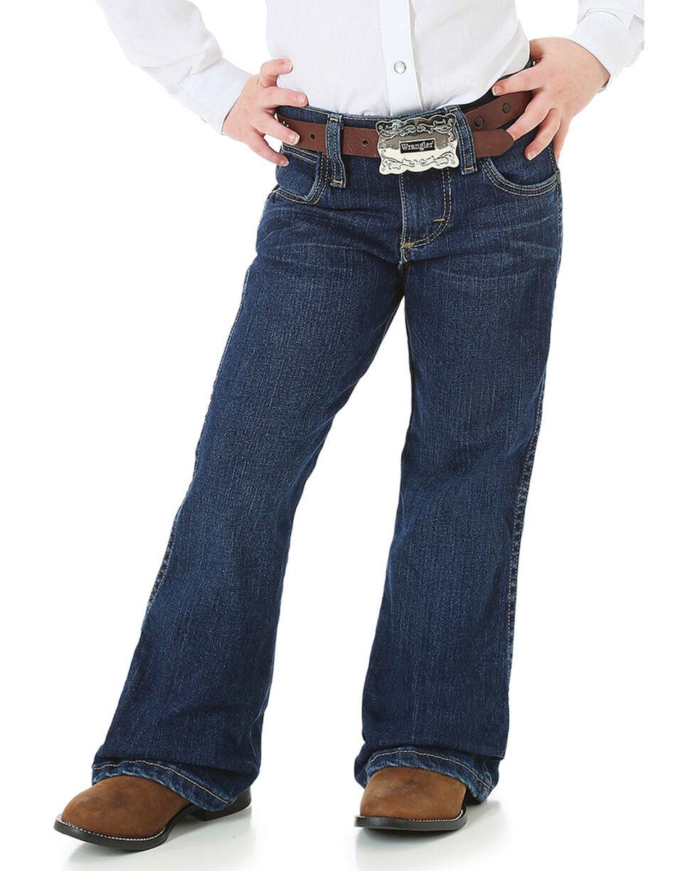Wrangler Girl's Premium Patch Jeans, Blue, hi-res