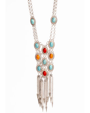 Shyanne Women's Fiesta Chain Fringe Necklace, Multi, hi-res