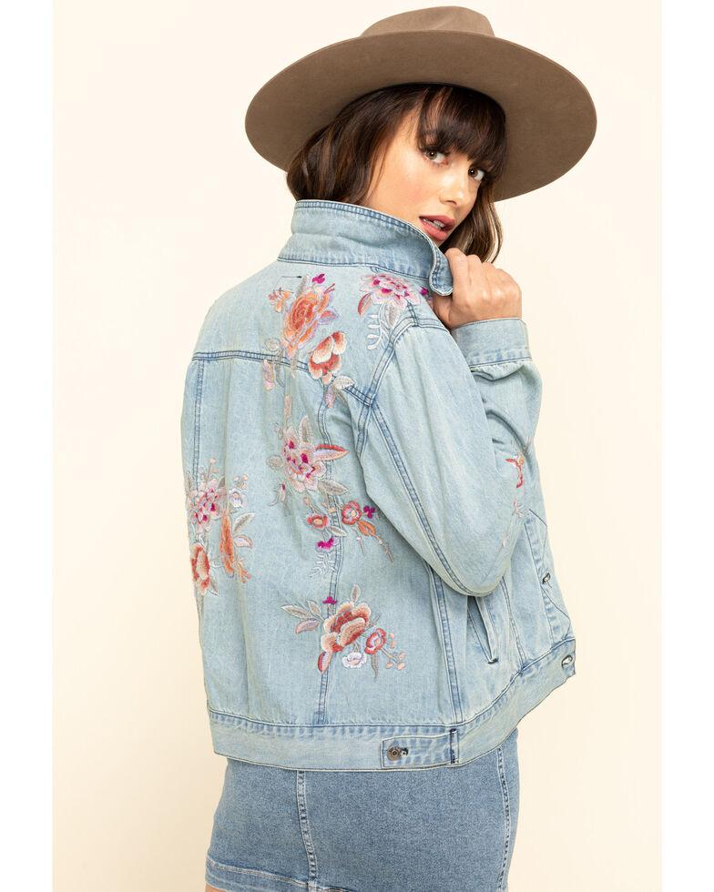 Johnny Was Women's Caelynn Denim Jacket, Blue, hi-res