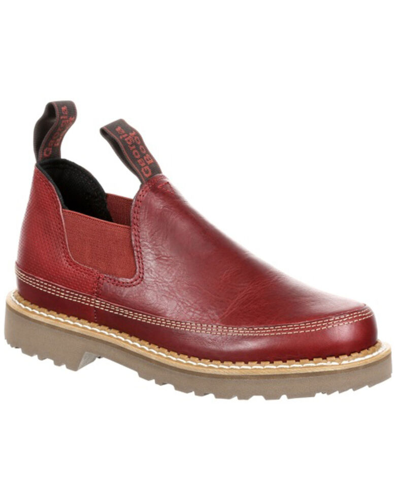 Georgia Boot Women's Gaint Red Leather Romeo Shoes - Round Toe, Chestnut, hi-res