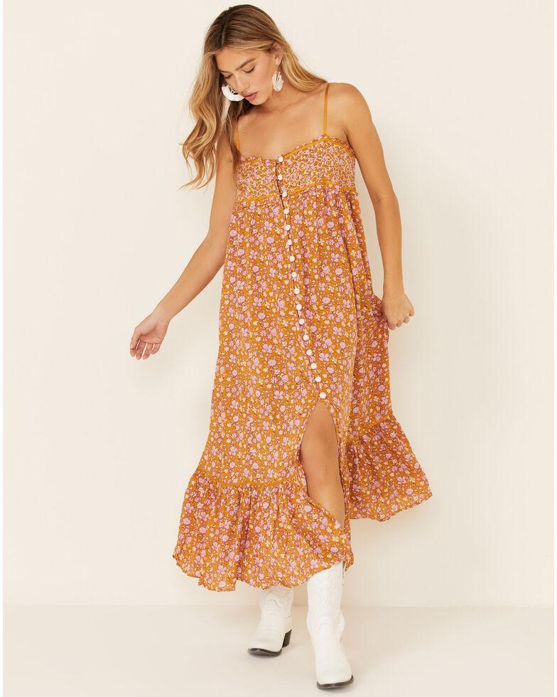 Free People Women's Molly Jo Dress, Mustard, hi-res